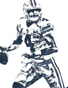 Dak Prescott Dallas Cowboys Pixel Art 3 Art Print by Joe Hamilton. All prints are professionally printed, packaged, and shipped within 3 - 4 business days. Dallas Cowboys Clipart, Dallas Cowboys Decor, Cowboys 4, Dak Prescott Tattoos, Dallas Cowboys Wallpaper Iphone, Football Art, Football Stuff, Sport Football, Football Players