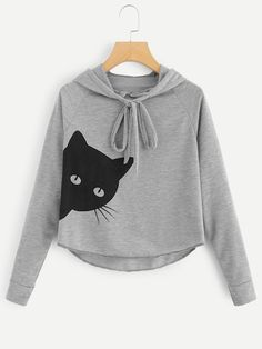 Looking for SweatyRocks Women's Casual Long Sleeve Cat Printed Pullover Hoodie Sweatshirt ? Check out our picks for the SweatyRocks Women's Casual Long Sleeve Cat Printed Pullover Hoodie Sweatshirt from the popular stores - all in one. Hoodie Sweatshirts, Sweatshirt Refashion, Pullover Hoodie, Sweatshirt Outfit, Sweatshirts Online, Grey Sweatshirt, Sweat Shirt, Hoodies, Fashion Sweatshirts
