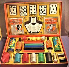 Gilbert Mysto Magic Set No.5-Orange Box-Passe Passe-Svengali Mind Reading-Purse
