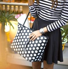 I'm really digging the polka dots and strips. :)