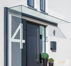 vordach dura freitragend glasprofi24 haus pinterest doors front doors and porch. Black Bedroom Furniture Sets. Home Design Ideas