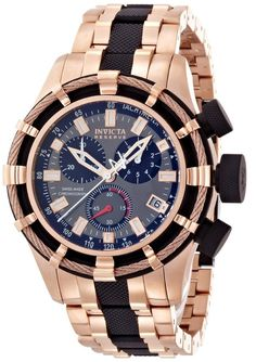 Men watches : Invicta Men's 5628 Reserve Collection Rose Gold-Tone Chronograph Watch