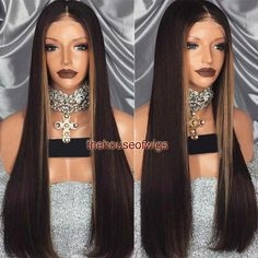 Brazilian Virgin Hair Lace Front Human Hair Wigs For Women Hightlight Color Full Lace Wig Glueless Human Hair Lace Wigs Lace front Human Hair Wigs Human Hair Lace Wigs Full Lace Wig Glueless Online with $512.5/Piece on Thehouseofwigs's Store | DHgate.com Colored Wigs, Quality Wigs, Human Hair Lace Wigs, My Beauty, Virgin Hair, Weave Hairstyles, Lace Front Wigs, Kinky, Black Hair