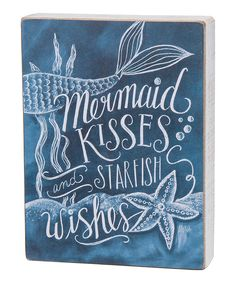 Look at this 'Mermaid Kisses' Chalkboard Box Sign on #zulily today!