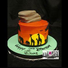 Lion King Birthday Cake Pride Rock