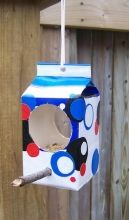 Milk Carton Bird Feeders