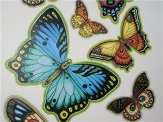 29 Butterfly Wall Clings Decals - Beautiful/ Rare