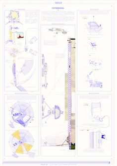 Architectural Drawings, Robot, Minimal, Illustrations, Architecture, Paper, Style, Santiago, Arquitetura