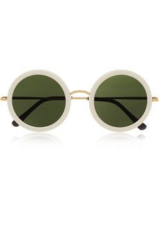 19527d93703a The Row - Round-frame acetate and metal sunglasses