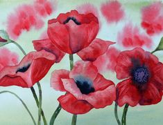 Art Fine Art Print of Red Poppies Reproduction of by yankeegirlart, $25.00. This is a wonderful painting. It looks alive.