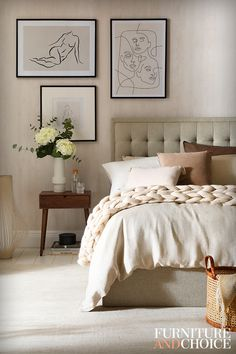 Room Design Bedroom, Small Room Bedroom, Room Ideas Bedroom, Home Decor Bedroom, Bedroom Art, Master Bedroom, Beige Room, Beige Walls Bedroom, Beige Bedrooms