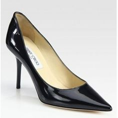 Jimmy Choo Agnes Patent Leather Point Toe Pumps