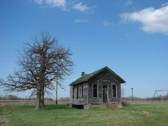 old one room schoolhouse in Iowa. At one point, Iowa had around 12,623 of these sitting around, but now there's only a few left.