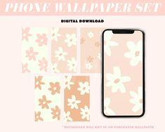 Floral Wallpaper / Phone Wallpaper / Digital Download / Phone | Etsy