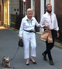 Ivana Trump enjoys Fourth of July date with Rossano Rubicondi   Daily Mail Online Donald Trump Ex Wife, Ivana Trump, Living In New York, Ex Husbands, Saint Tropez, Yorkshire Terrier, Urdu Poetry, Fourth Of July, Mail Online