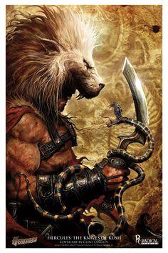 CLINT LANGLEY - art for Hercules: The Knives of Kush #4 - 2009 Radical Comics