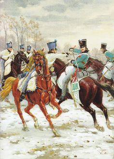 Le 5e Hussards au combat de Lopaczin, illustration de O. Gorchenkova in Gloire et Empire N°9.