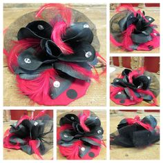 Your place to buy and sell all things handmade Fascinator Hairstyles, Spring Hairstyles, Ladybug, Trending Outfits, Unique Jewelry, Handmade Gifts, Red, Etsy, Vintage