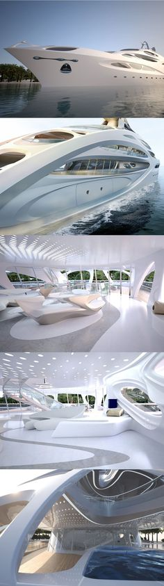Super yacht by Zaha Hadid's