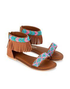 Little Girl's Beaded Fringe Sandals | $35 at Monsoon