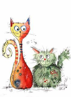 Best friends - zwei #Katzen in tiefer #Freundschaft, trotz aller Differenzen. www.clarissa-hagenmeyer.de