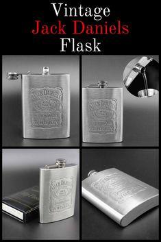 5b1c9fd135 8Oz English Lettering Stainless Steel Wine Whisky Bottle Hip Flask Flagon