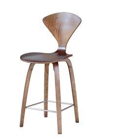 "Cherner Midcentury Modern Style Counter Chair 25"", Walnut | Mid Mod"