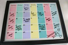 22 Picture Perfect Ways to Repurpose a Frame via Brit + Co. Paint chip calendar!