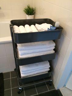 Ikea rolkar, Ikea gastendoekjes en handdoeken.