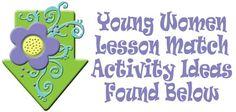 YOUNG WOMEN LDS Lesson Helps, come follow me lesson match activities, lds, family home evening, arrow 1, gospelgrabbag.com