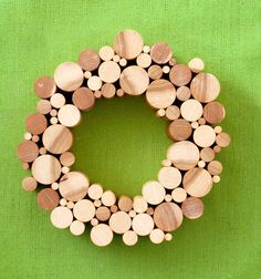 How to: Make a DIY Wood Dowel Holiday Wreath | Man Made DIY | Crafts for Men | Keywords: geometric, how-to, craft, decor