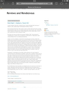 'She Reviews Rendezvous' blog