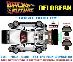 PAPERMAU: Back to the Future - Delorean Paper Model - by Mike Daws