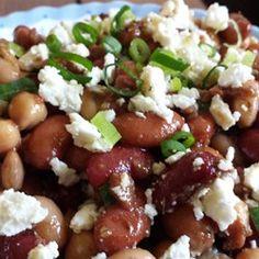 Three Bean Salad with Feta Cheese Recipe