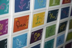 Mister K und Franz Kafka bei Mota Italic Berlin - slanted Stamps, Calendar, Fonts, Typography, Holiday Decor, Face, Home Decor, Poster, Nice Asses