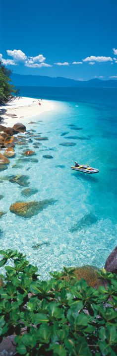 Spend the day snorkeling at Fitzroy Island National Park. This underrated reef off the coast of Cairns, Australia is home to clownfish, parrotfish, green sea turtles and more amazing marine life.