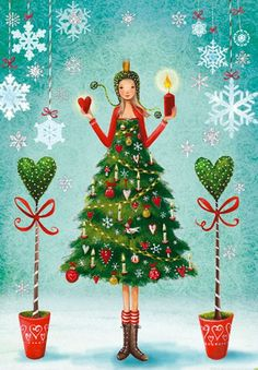 Christmas postcard selection by Mila Marquis by MarquisWonderland