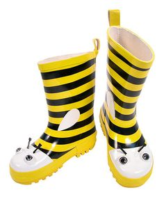 Look what I found on #zulily! Yellow Bee Rain Boot by Kidorable #zulilyfinds
