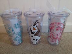 Disney Frozen Tumblers - Personalized - Elsa, Anna, Olaf