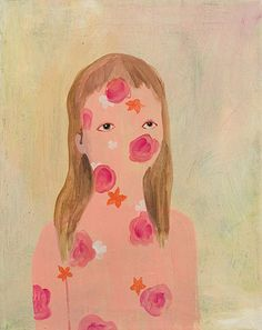 // Artist painter Amy Kligman painting
