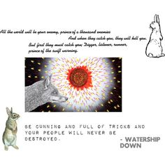 parallelism in watership down In watership down, arts and culture mostly means telling stories about el- ahrairah, with a  do the el-ahrairah stories parallel the action of hazel's rabbits.