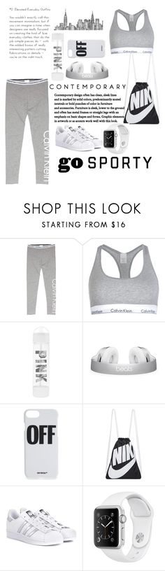 """Gray☻"" by fashionsgirl ❤ liked on Polyvore featuring Calvin Klein, Victoria's Secret, Off-White, NIKE and adidas Originals"