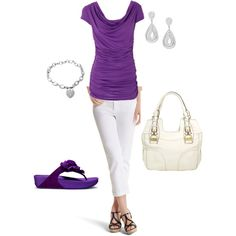 Purple for Spring/summer Polyvore featuring polyvore, fashion, style, FitFlop, Jessica Simpson, Jon Richard and clothing