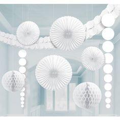 White Room Decorating Kit - Hanging Decorations - Wedding Decorations - Wedding - Adult Party