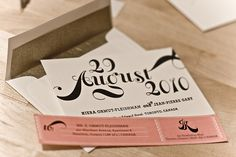 Save the Date with envelope and label
