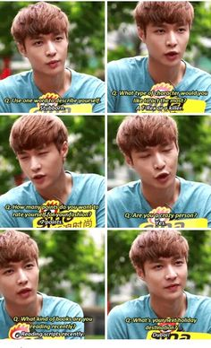 EXO. Lay, is it weird that I like watching him speak? I mean these pics are precious.