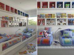 quarto para menino e menina filhos que dividem o quarto