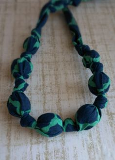 Fabric Beaded Nursing Necklace by TinTinsCorner on Etsy, $9.00