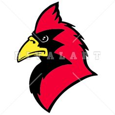 Mascot Clipart Image of a Fighting Cardinal Graphic | Cardinal ...