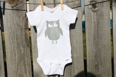 Owl Onesies Owl Baby Shower by RoyalMajesTees on Etsy